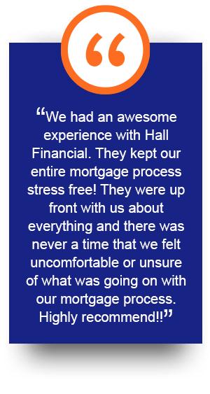 Hall Financial Testimonial