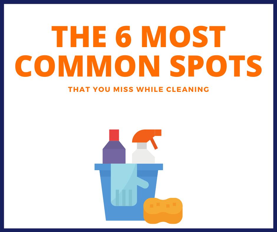 6 most common spots